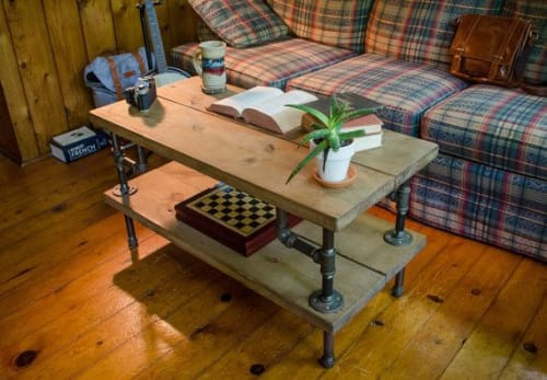 Industrial Coffee Table | Tables by THE IRON ROOTS DESIGNS