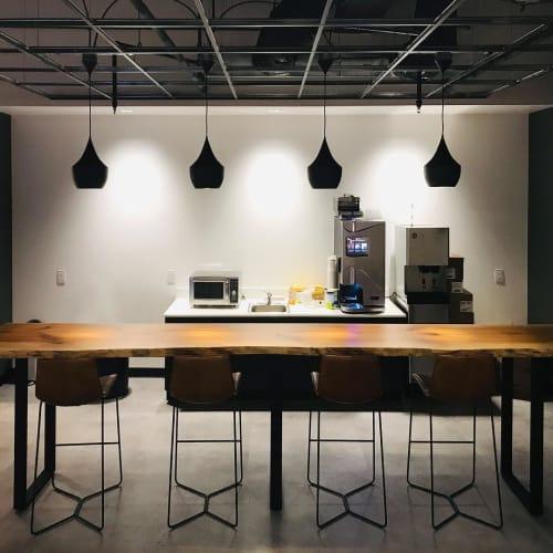 Hardwood 13.5 ft. Coffee Bars   Tables by Created Hardwood   Verizon in Cary
