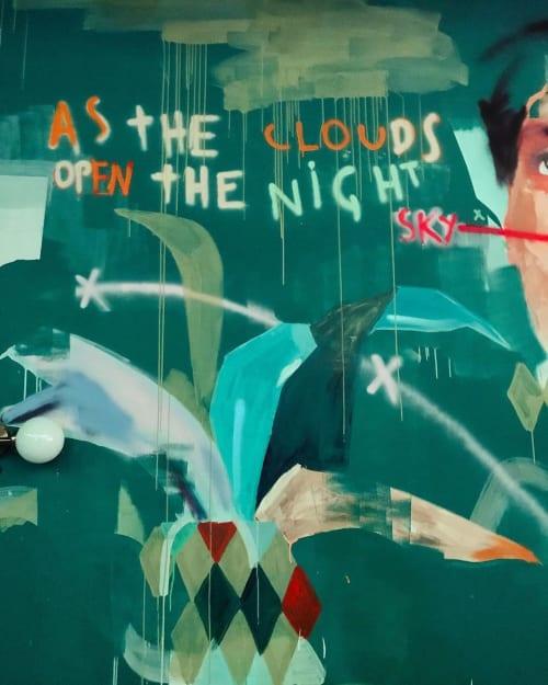 Murals by Bruno Marchetto seen at Selina Porto, Porto - Mural