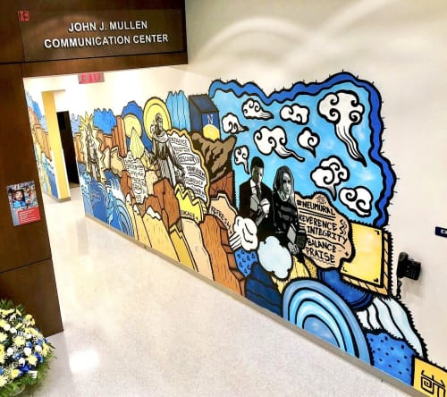 Murals by Alloyius Mcilwaine Art seen at Neumann University Main Campus - NEUMANN University Mural