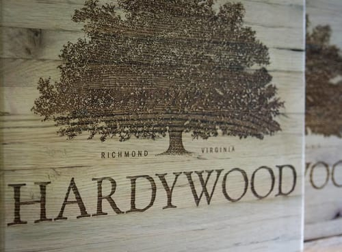 Chairs by Kugo Laser LLC at Hardywood Pilot Brewery & Taproom, Charlottesville, Charlottesville - Laser Engraved Stools