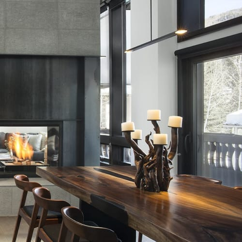 Pendants by Cerno seen at Private Residence, Vail - Virga Pendant