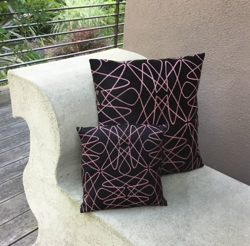 Pillows by Zuzana Licko seen at Private Residence, Berkeley - Jacquard Woven Pillow