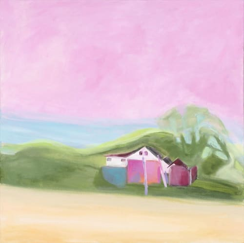 My Back Yard   Paintings by Shirley Bavonese   Sweetwaters Coffee & Tea Washington St. in Ann Arbor