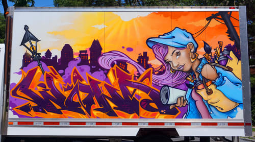Wuna graffiti - Art and Art Curation