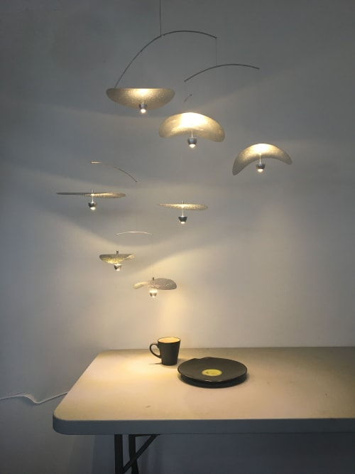 Pendants by Umbra & Lux seen at Creator's Studio, Vancouver - Nymphaea