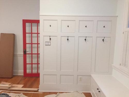 Furniture by Adam Karr seen at Private Residence, Philadelphia - Custom Entry Storage