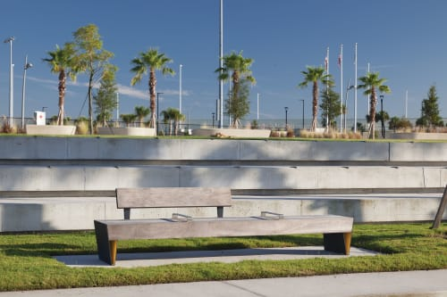 Benches & Ottomans by mmcité1 seen at Julian B Lane Riverfront Park, Tampa - Blocq park benches