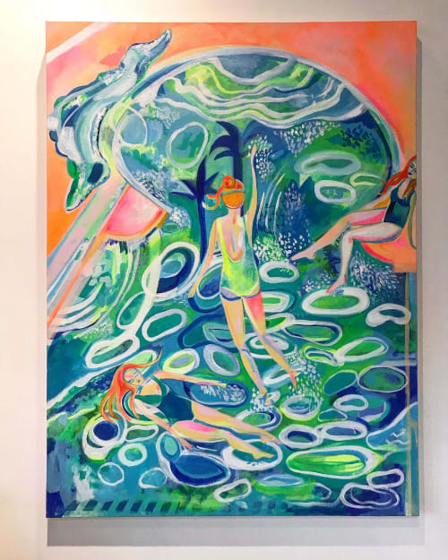 Paintings by Nicole Aimee Durocher seen at Private Residence, New York - The Swim II