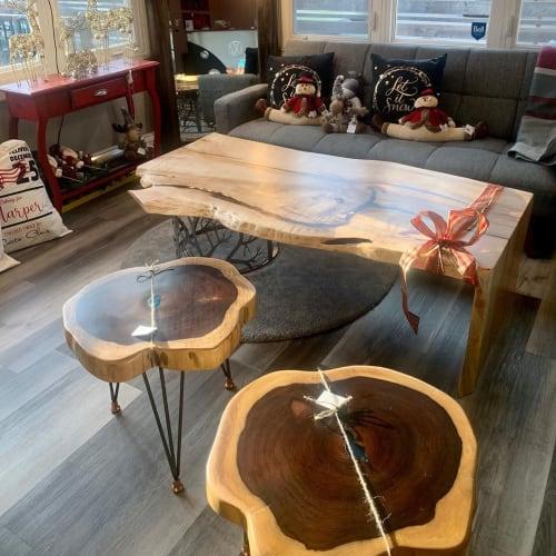 Tables by Kay At Home seen at Kay at Home Studio, Burlington - Live Edge Tables