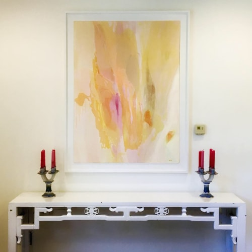 Paintings by Stacey Warnix Studio seen at Charleston House - Dr. Kamilia Smith, Dallas - Hushed Harmony
