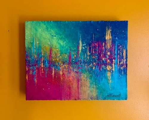 Paintings by Alicent Art seen at Private Residence, London - Rainbow