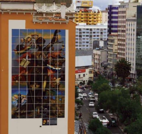 Street Murals by fGonz Jove seen at La Paz, La Paz - Descolonización de la Justicia Boliviana
