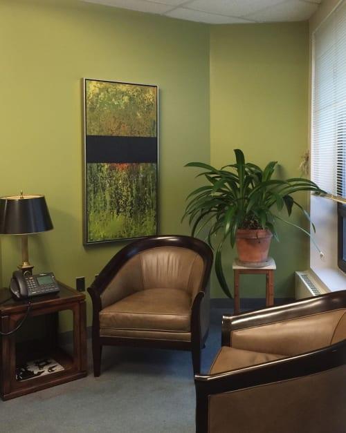 Paintings by Annie Darling seen at University of Southern Maine, Portland - Encaustic Paintings