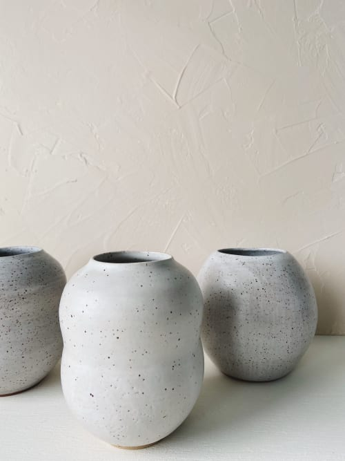 Vases & Vessels by Eyre Ceramics seen at Seattle, Seattle - Speckled Wave Vase