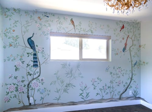 Murals by Yulia Avgustinovich seen at Private Residence, Denver - Nursery mural in Chinoiserie style