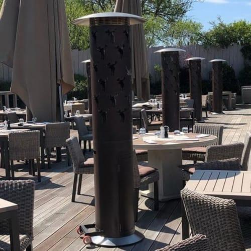 Fireplaces by GLAMMFIRE seen at Elch Club-Restaurant, Bertrange - Bespoke Gas Heaters