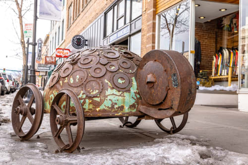"Public Sculptures by KIRSTEN KAINZ seen at 20 W Main St, Bozeman - ""Tortoise"""