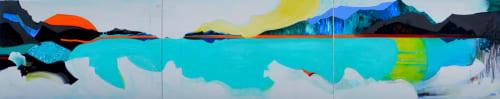 Paintings by Ellen Dieter seen at Private Residence, Honolulu - Lake Honu - painting