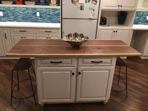 Furniture by Drake Woodworking seen at Private Residence - Kitchen Island Table