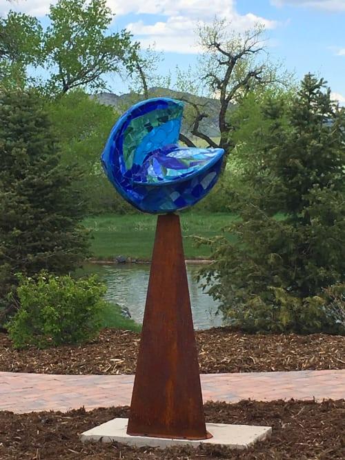 Public Sculptures by Annette Coleman, public art and engagement seen at Seven Stones - Chatfield, Littleton - Poseidon's Fortune