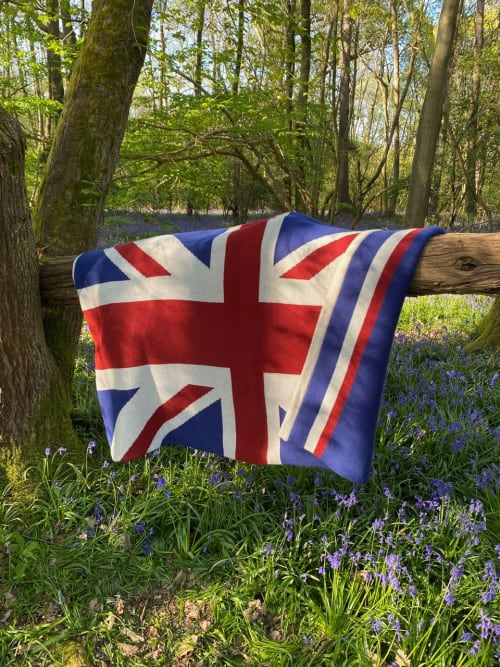 Linens & Bedding by Graces Blankets seen at London, London - Union Jack Flag Blanket