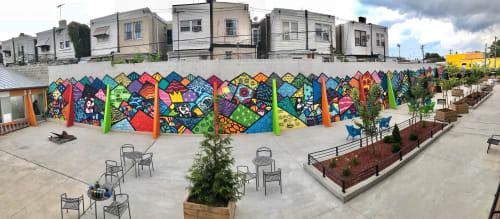 Street Murals by Alloyius Mcilwaine Art seen at J Street Lofts Apartment Complex, Philadelphia - J Street Lofts Super Mural