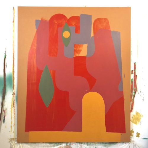 Paintings by Kevin Ledo seen at Plateau Mont-Royal, Montréal - The Roots Are Invisible