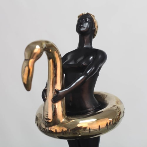 Sculptures by Ignacio Gana seen at Private Residence, Miami Beach - Flamingo Girl