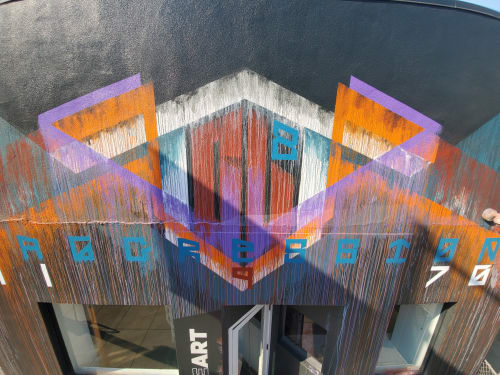 Murals by D Young V seen at Palette, San Francisco - PROGRESSION