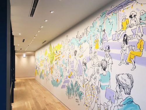 Murals by Mariya Suzuki seen at Ebisu, Shibuya City - D.A.C Office