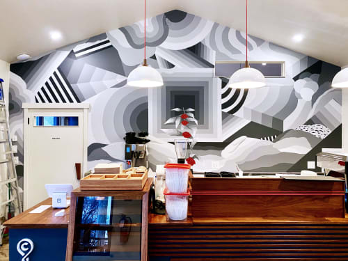 Murals by Nathan Brown seen at Nashville, Nashville - Crema Coffee Roasters mural