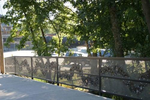 Public Sculptures by Brent Bukowski Fine Art seen at Nelson, Nelson - Railtown Bridge