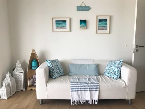 Paintings by Sarah Caudle seen at Private Residence - Beach Paintings