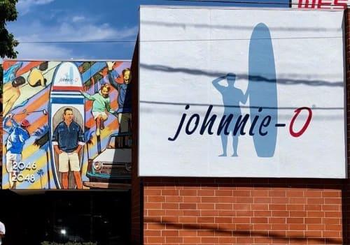 Murals by Mark Boomershine seen at johnnie-O Love Shack, Santa Monica - Johnnie O Headquarters