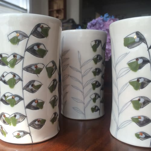 Cups by Amy Halko Ceramics seen at Private Residence, San Francisco - Set of 8 Tumblers