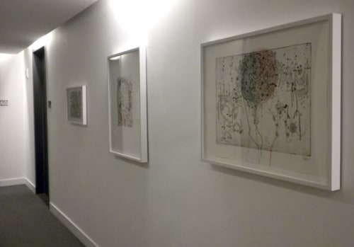 Wall Hangings by Sarah Nicole Phillips seen at The James New York, New York - Etching Prints and Envelope Collages