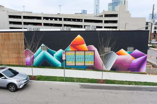 Street Murals by Nathan Brown seen at Nashville, Nashville - Patagonia mural