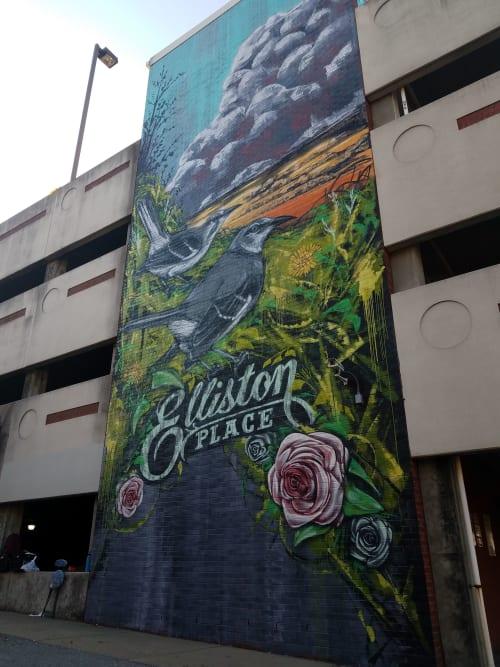 Murals by Audroc Audie seen at Nashville, TN, Nashville - New Days