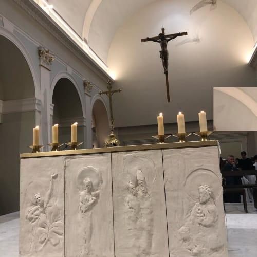 Sculptures by Pauline Ohrel Sculptor seen at Eglise Notre Dame de l'Assomption, Paris - Concrete Art Sculpture