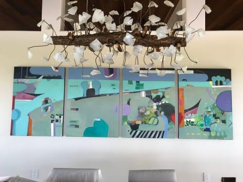 Paintings by Ellen Dieter seen at Private Residence, Honolulu - Fantasy Island