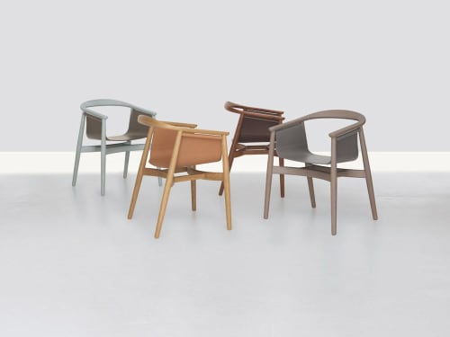 Chairs by Lorenz+Kaz seen at SUITE NY, New York - Pelle chair