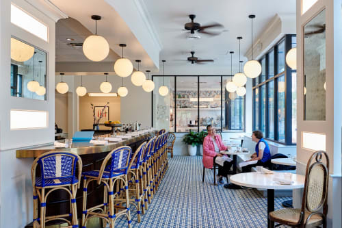 Pendants by Southern Lights Electric seen at Le Politique, Austin - Restaurant Globe Pendants