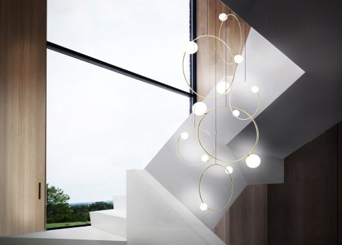 Pendants by Marc Wood Studio seen at Private Residence, New York - Drops Cluster