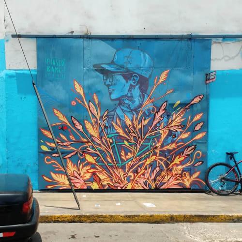 Street Murals by FIASCO seen at Avenida Elmer Faucett, San Miguel - Wall Mural