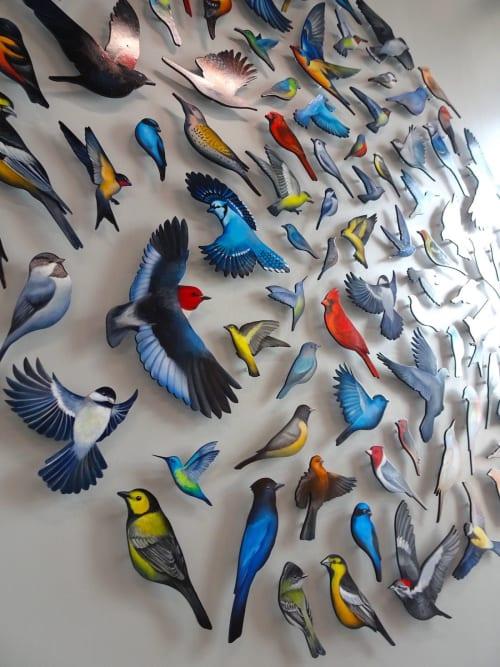 Murals by Cecilia Lueza Art Projects seen at Facebook Data Center Huntsville, Huntsville - WANDERLUST