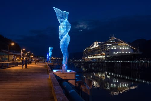 Public Sculptures by Cliff Garten seen at Juneau Area, Juneau - Aquileans