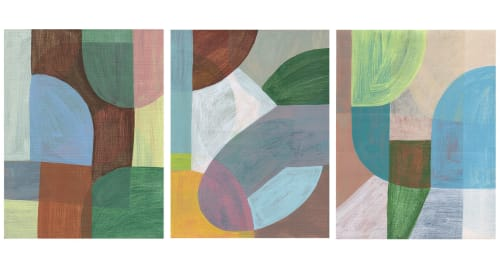 Paintings by Rebekah Andrade seen at Private Residence, Henderson - Triptych Mind Map 2