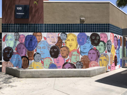 Murals by Sofia Enriquez seen at Cathedral City High School, Cathedral City - Cathedral City High School Mural