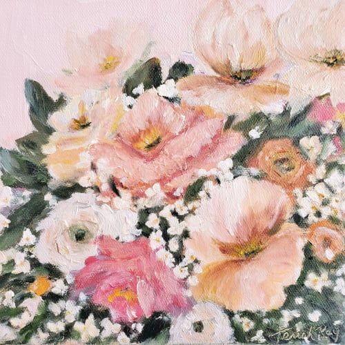 "Paintings by Terrah Ray Fine Art Studio seen at Private Residence - ""Precious Moments"" - Floral Painting"